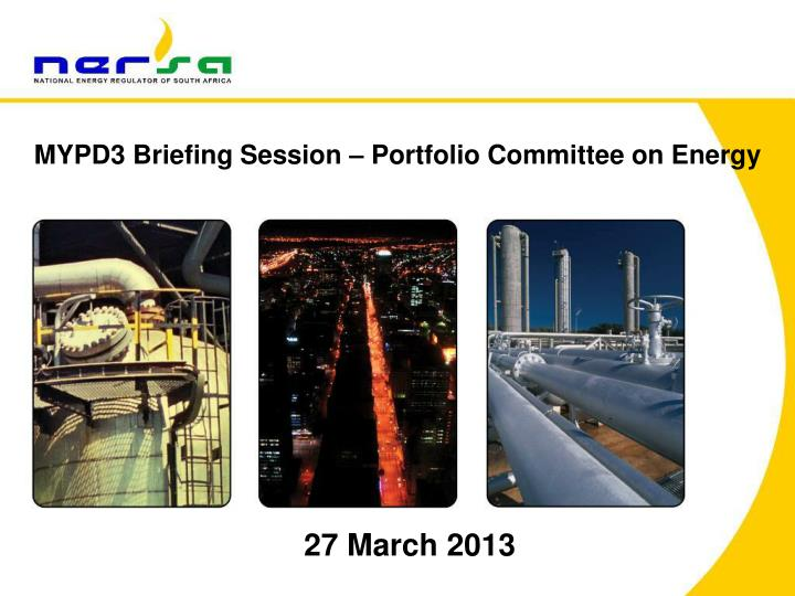 MYPD3 Briefing Session – Portfolio Committee on Energy