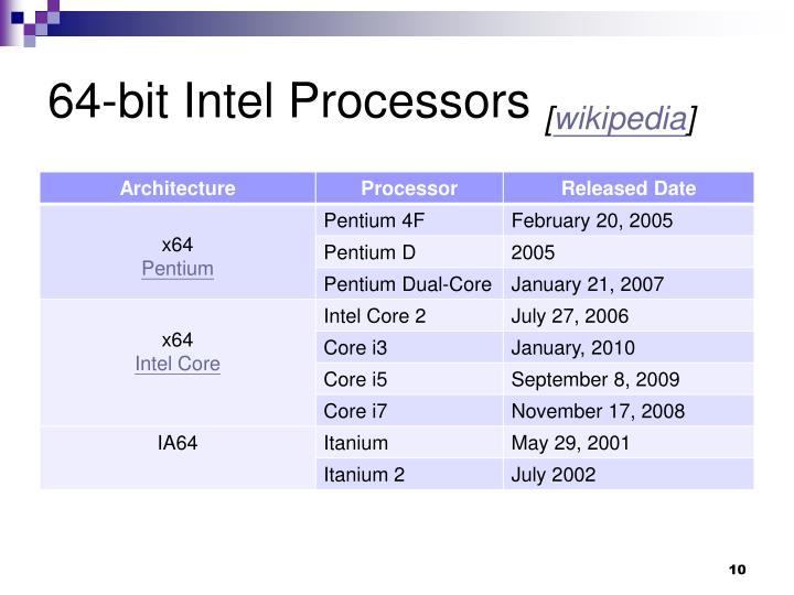 64-bit Intel Processors