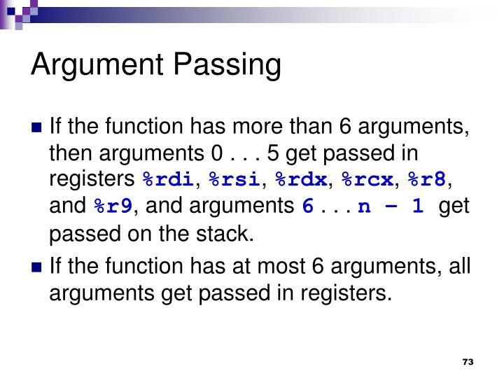 Argument Passing