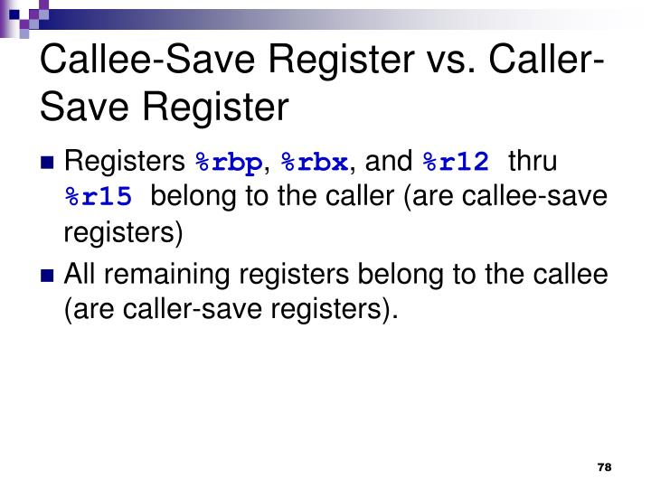 Callee-Save Register vs. Caller-Save Register