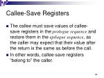 callee save registers