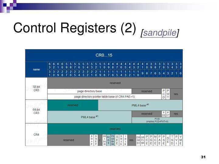 Control Registers (2)