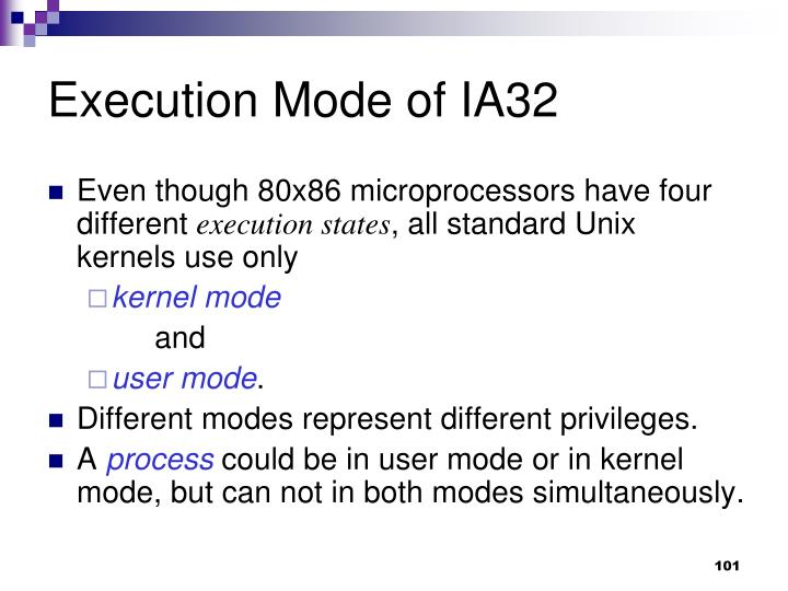 Execution Mode of IA32