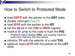 how to switch to protected mode
