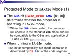 protected mode to ia 32e mode 1