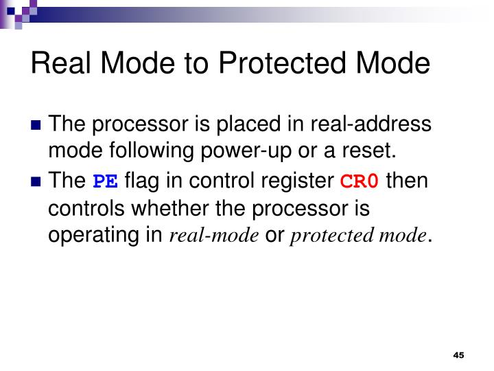 Real Mode to Protected Mode