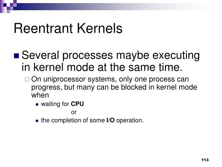 Reentrant Kernels
