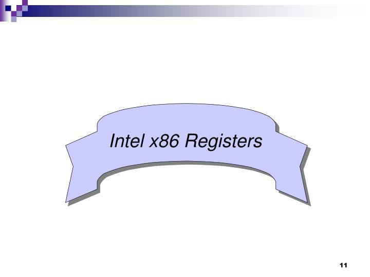 Intel x86 Registers