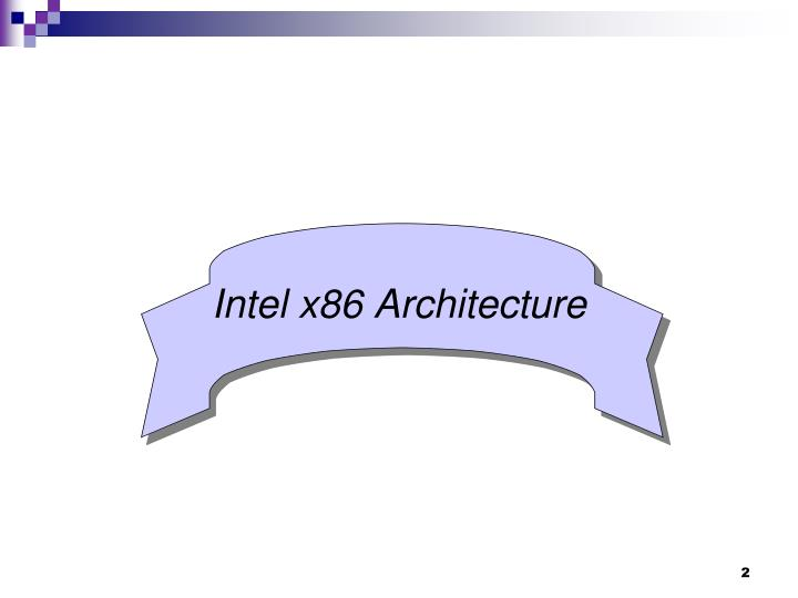 Intel x86 Architecture