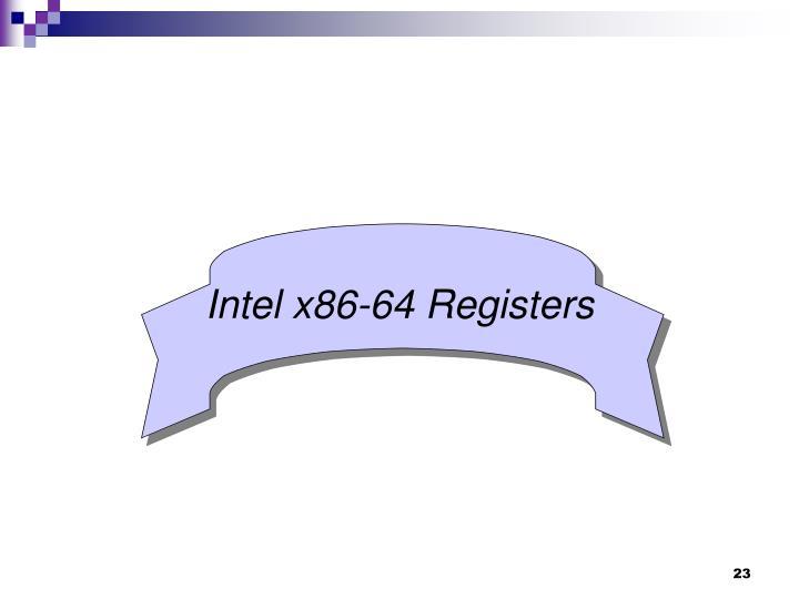Intel x86-64 Registers