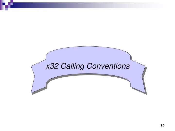 x32 Calling Conventions