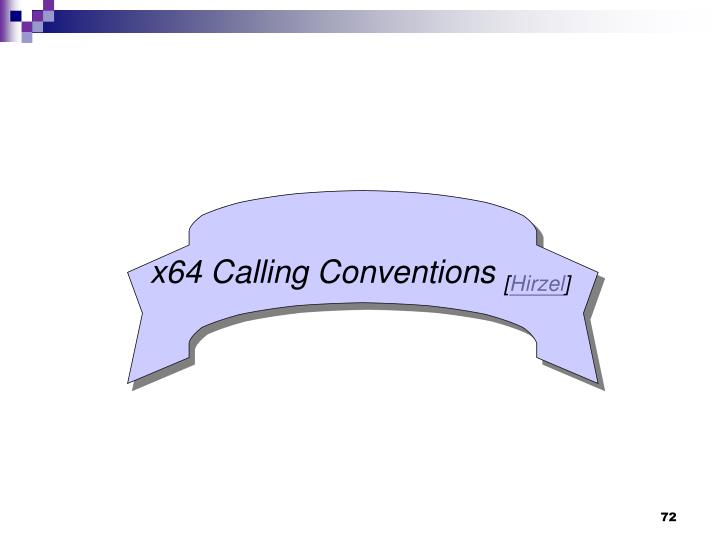 x64 Calling Conventions