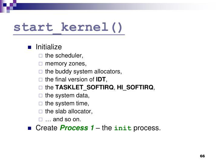start_kernel()