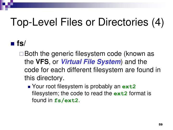 Top-Level Files or Directories (4)