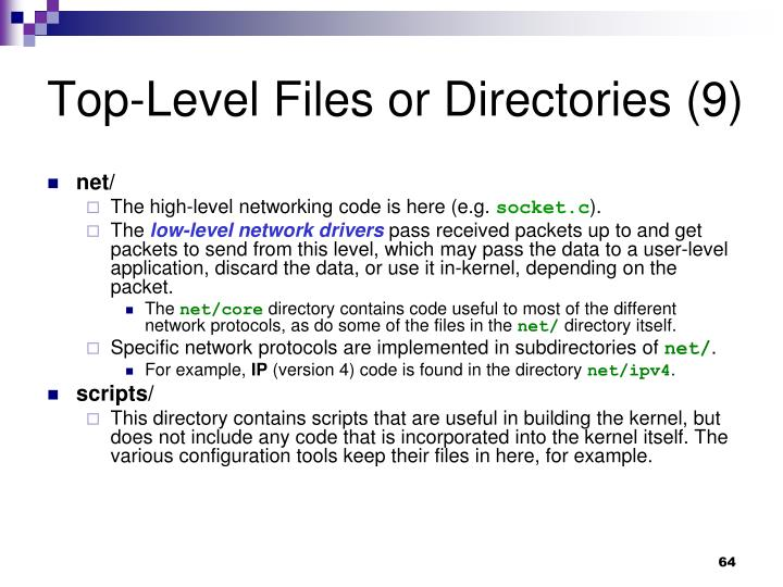 Top-Level Files or Directories (9)
