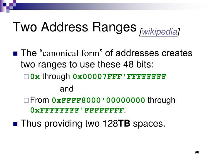 Two Address Ranges