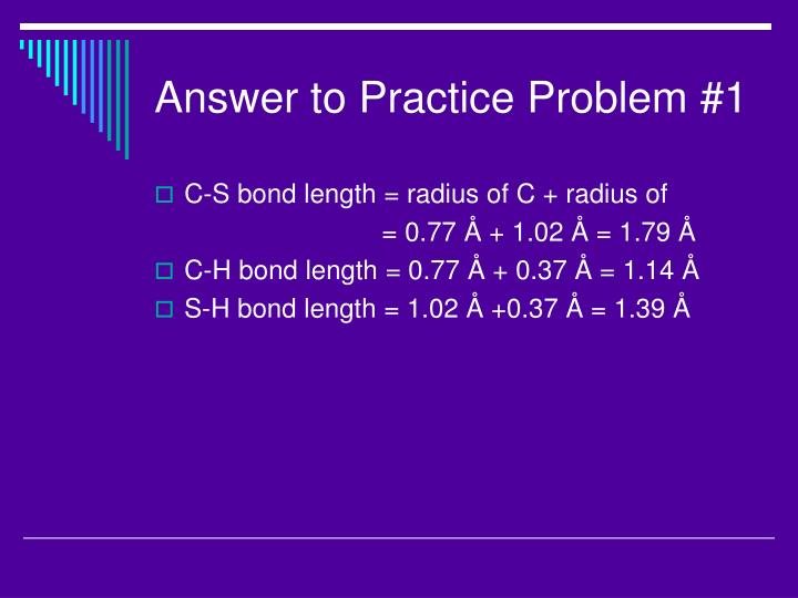 Answer to Practice Problem #1