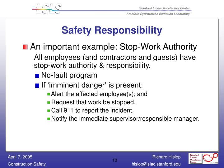 Safety Responsibility
