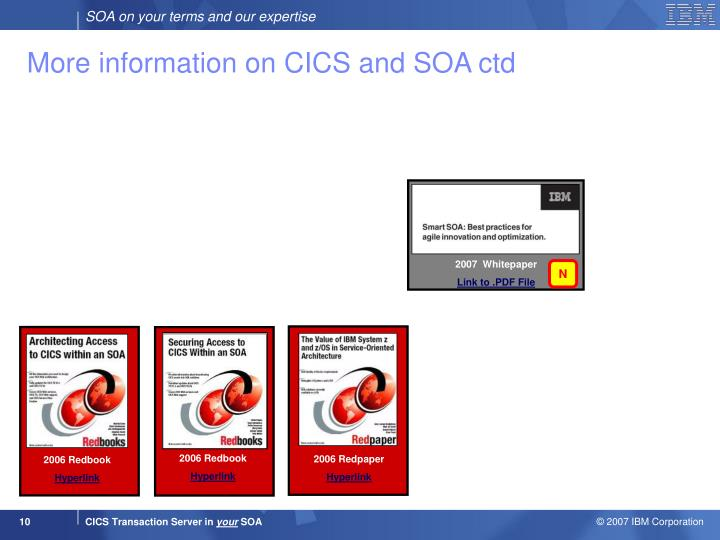 More information on CICS and SOA ctd