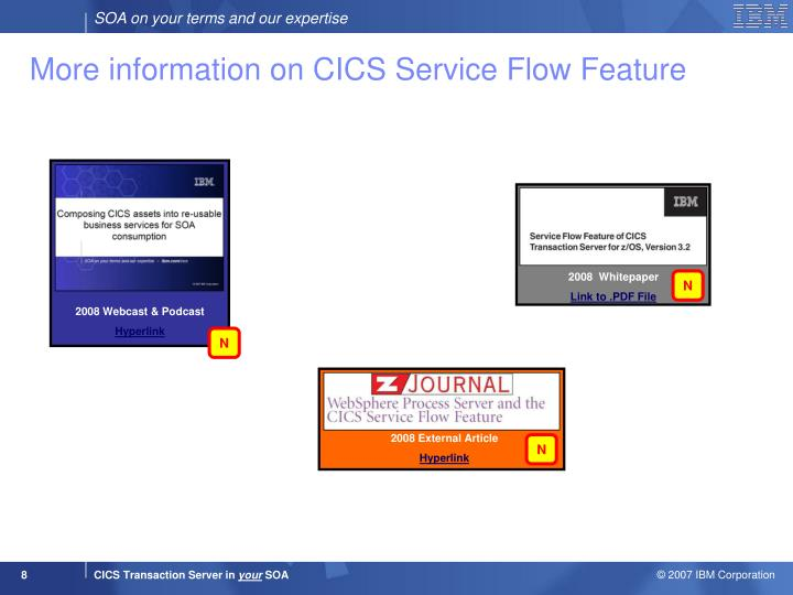More information on CICS Service Flow Feature