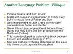 another language problem filioque