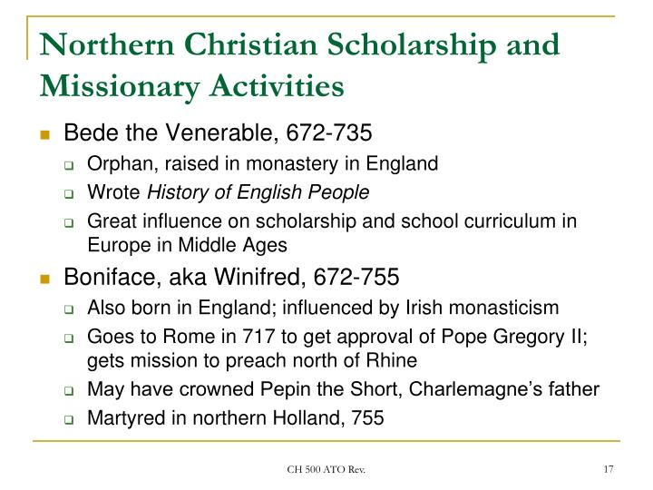 Northern Christian Scholarship and Missionary Activities