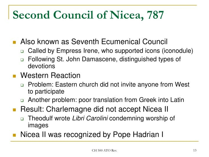Second Council of Nicea, 787