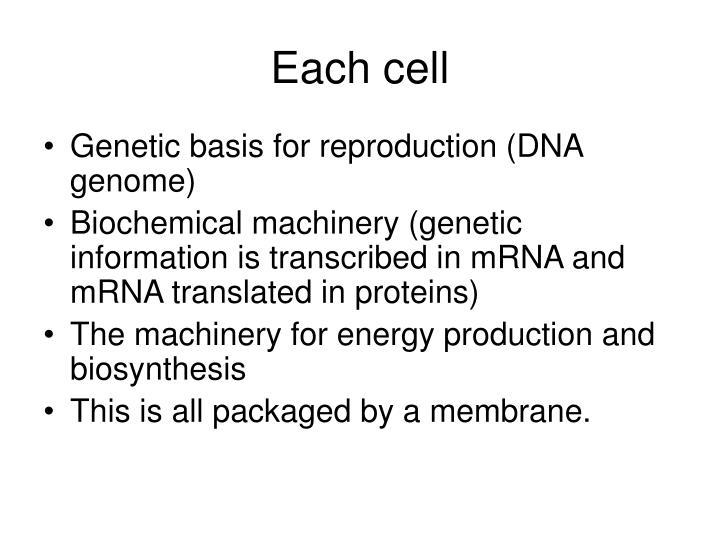 Each cell