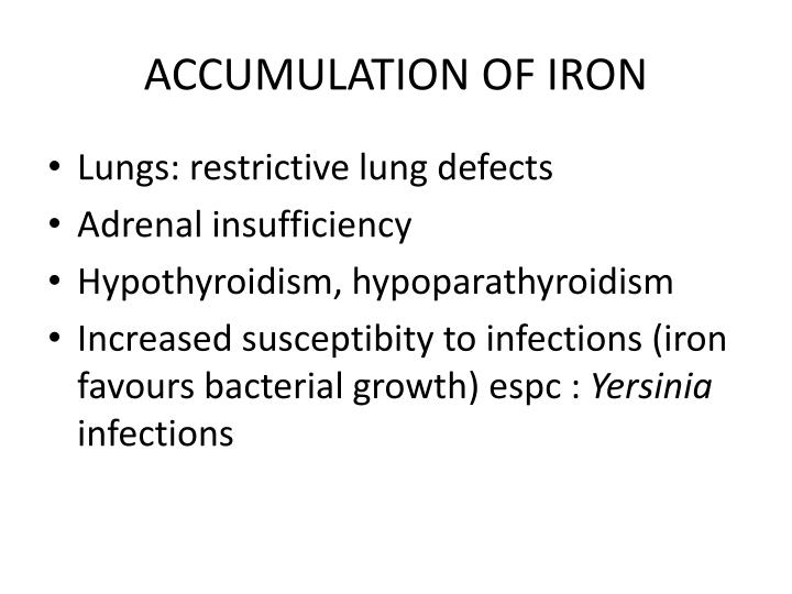 ACCUMULATION OF IRON