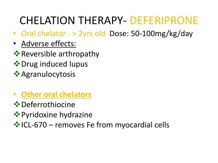 CHELATION THERAPY-