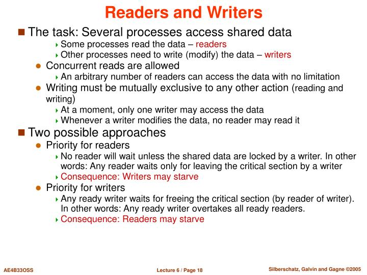 Readers and Writers