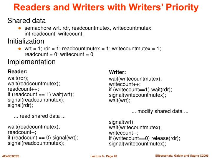 Readers and Writers with Writers' Priority