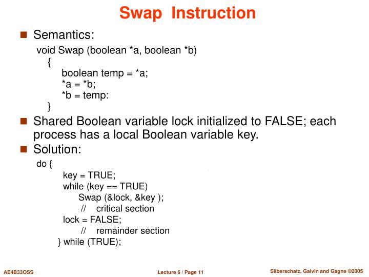 Swap  Instruction
