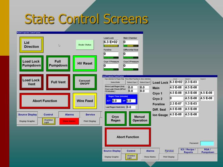 State Control Screens