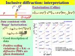 inclusive diffraction interpretation