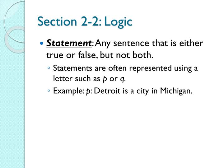 Section 2 2 logic