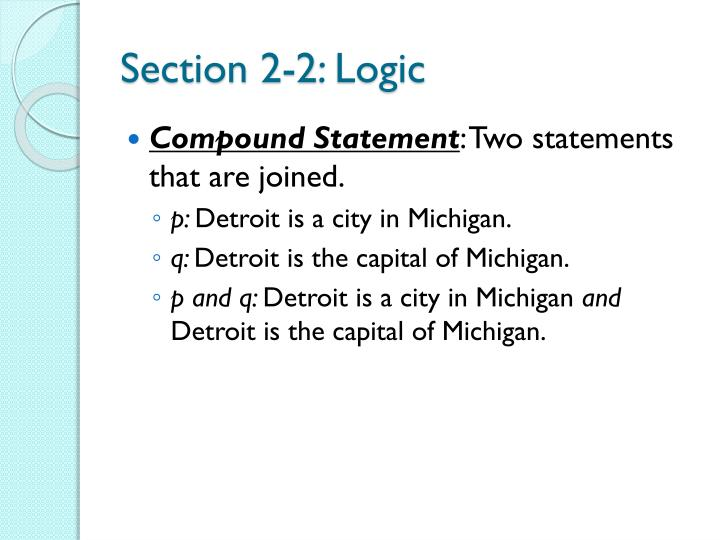 Section 2-2: Logic
