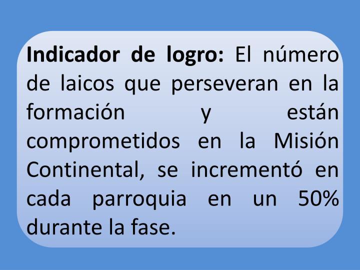 Indicador de logro: