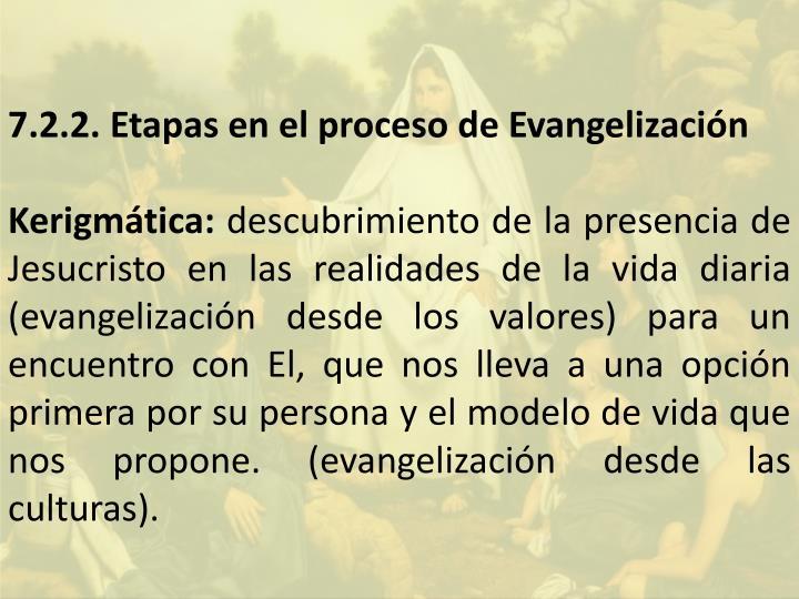 7.2.2. Etapas en el proceso de Evangelización