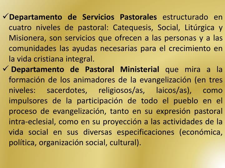 Departamento de Servicios Pastorales