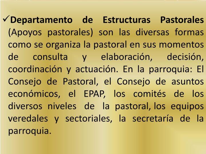 Departamento de Estructuras Pastorales