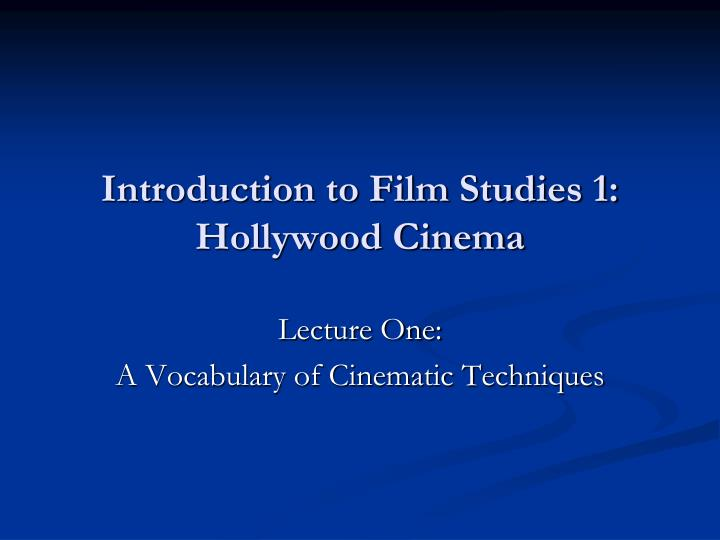 an introduction to the history of cinema The history of the hollywood movie industry a new era in film history began in this decade with the introduction of sound into film.