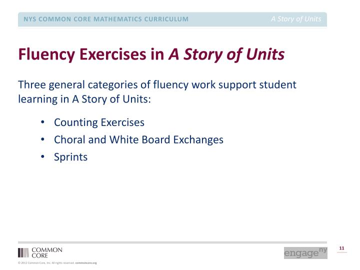 Fluency Exercises in