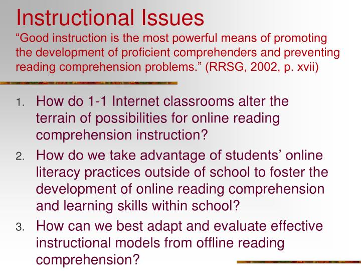 Instructional Issues