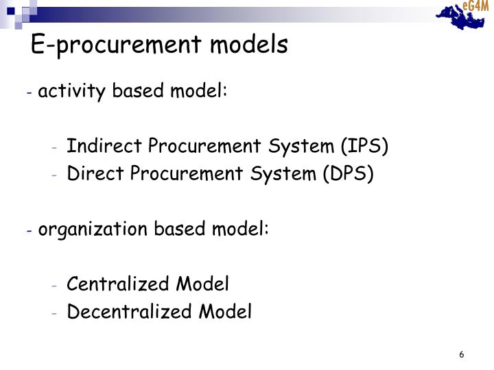 E-procurement models