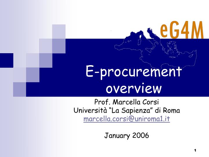 E procurement overview