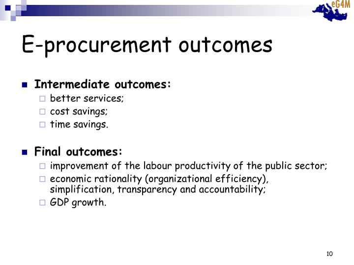 E-procurement outcomes
