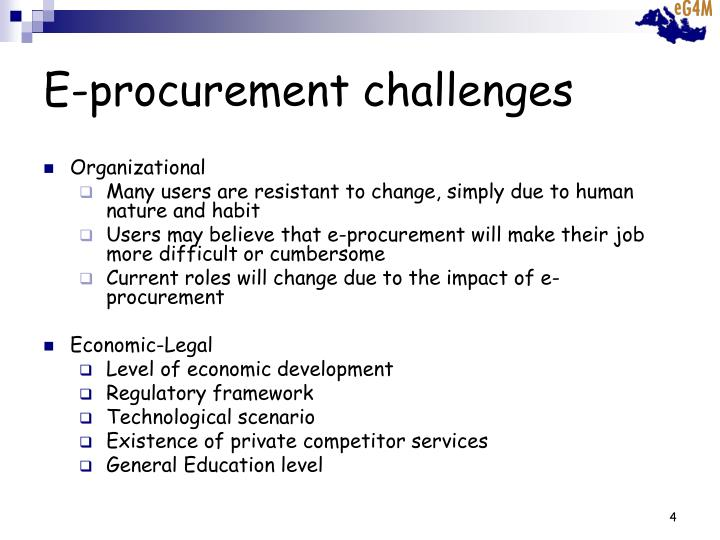 E-procurement challenges