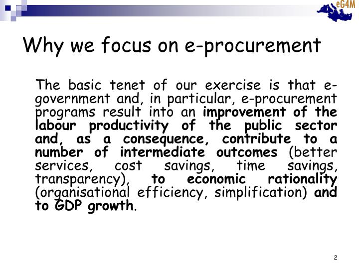 Why we focus on e-procurement