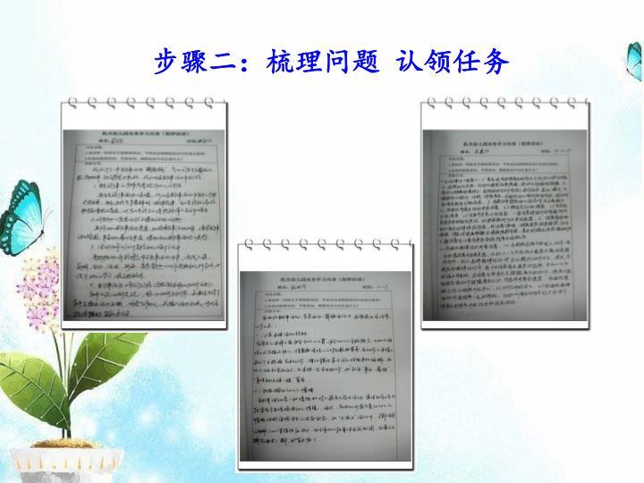 步骤二:梳理问题 认领任务